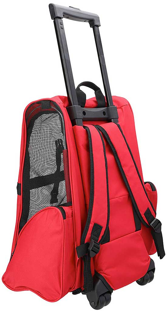 OxGord Rolling Backpack Travel Pet Carrier