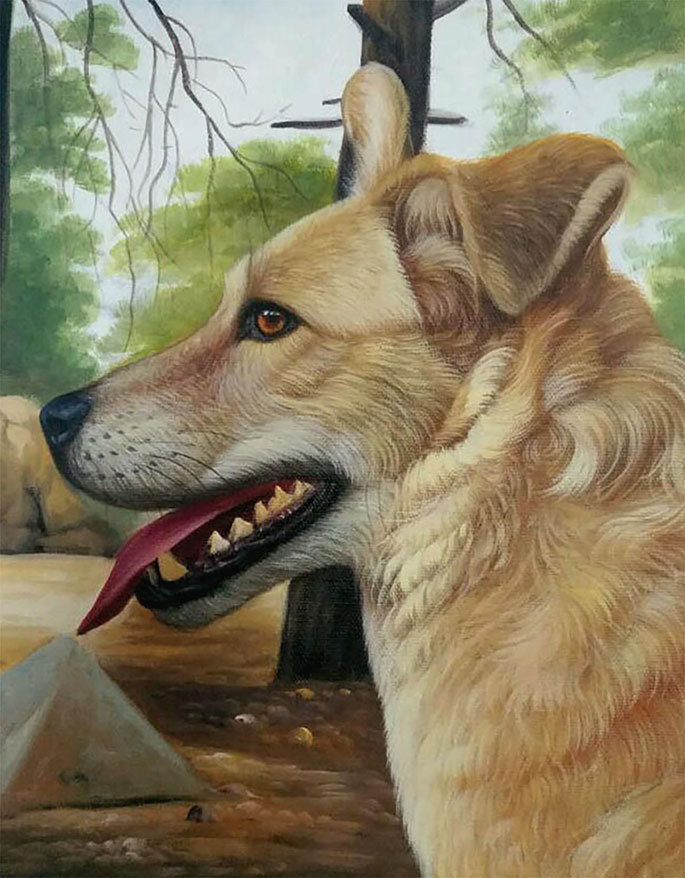 Personalized Dog Canvas Painting