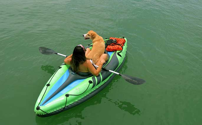 kayaking with your dog
