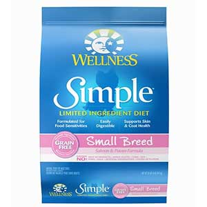 Wellness Simple Limited Ingredient dog food for Pomeranian