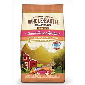 Whole Earth dog food for Pomeranian